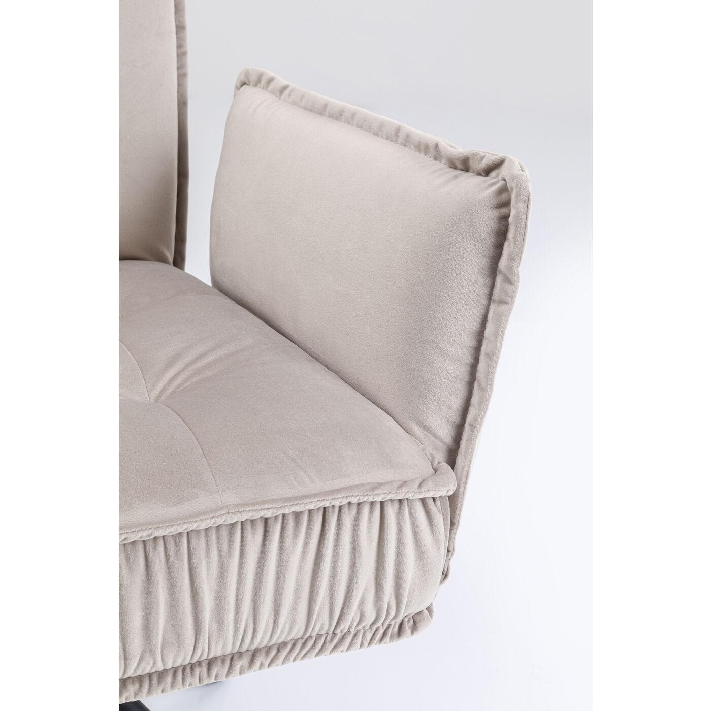 Chaise avec accoudoirs Chelsea grise Kare Design
