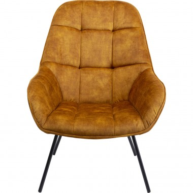Fauteuil Dave ocre Kare Design