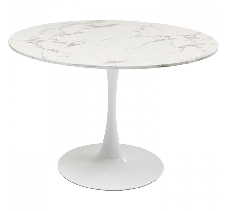 Table Schickeria 110cm effet marbre blanc Kare Design