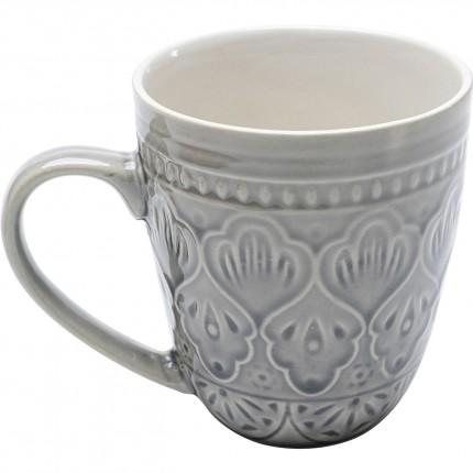 Set de 4 tasses Sicilia Mandala gris Kare Design