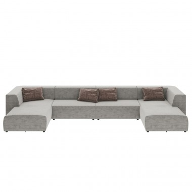 Canapé 2 angles Infinity gris 4 assises Kare Design