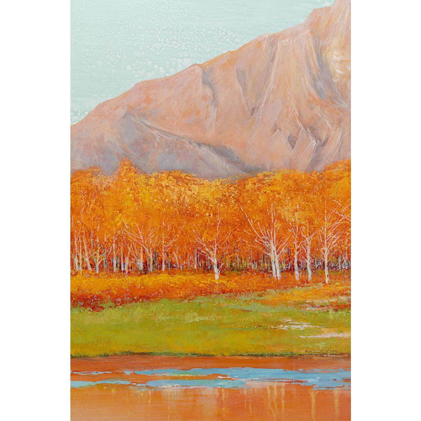Tableau Frame montagne automne 120x120cm Kare Design