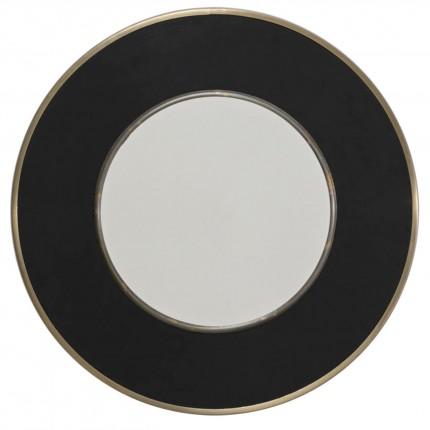 Miroir rond Lens 60cm noir Kare Design