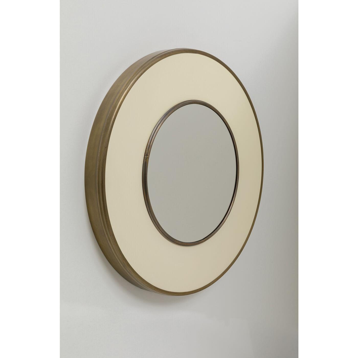 Miroir rond Lens 75cm blanc Kare Design