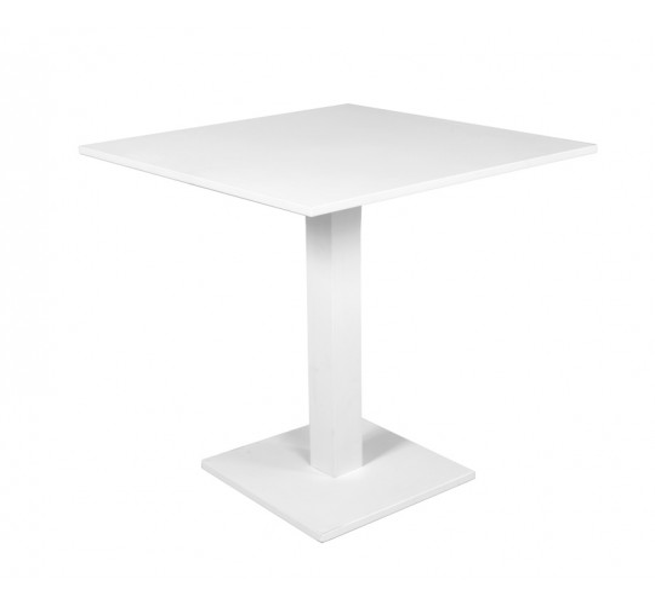 Table pliante Prada 70x70cm blanche Gescova