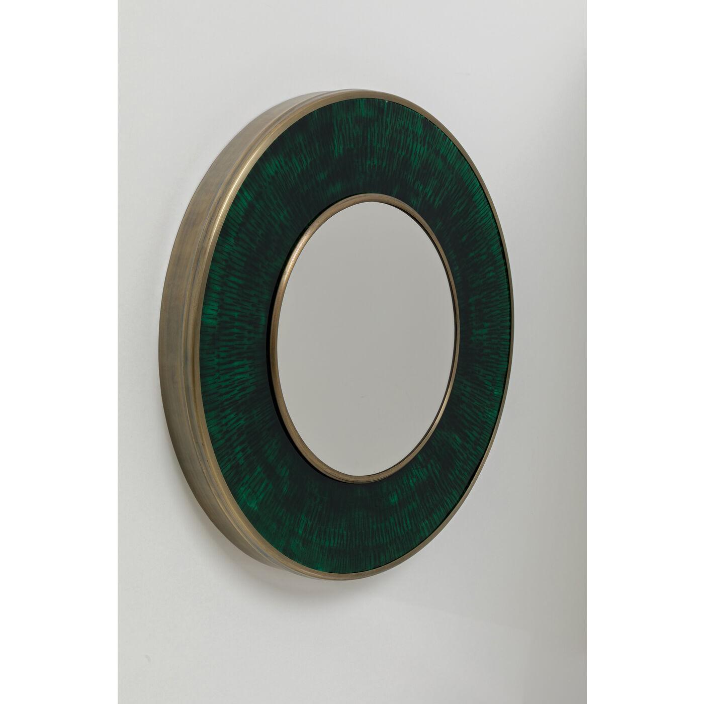 Miroir rond Lens 75cm vert Kare Design