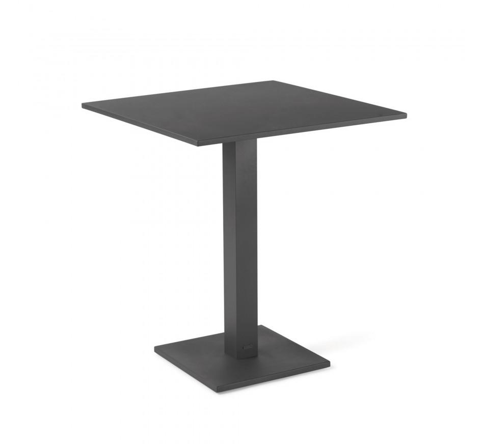 Table pliante Prada 70x70cm gris anthracite Gescova
