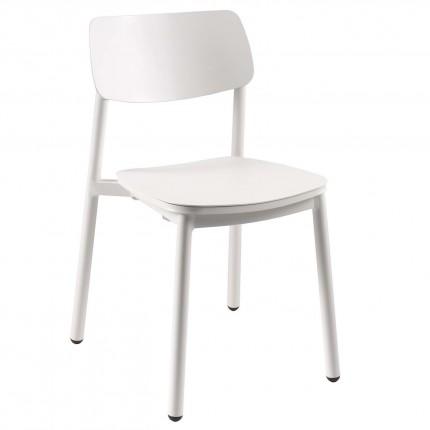 Chaise Malta blanche Gescova
