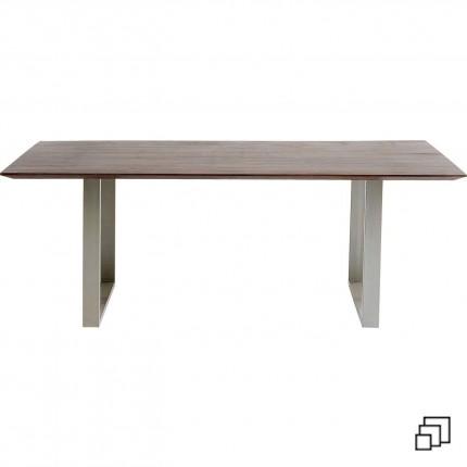Table Symphony noyer argent Kare Design