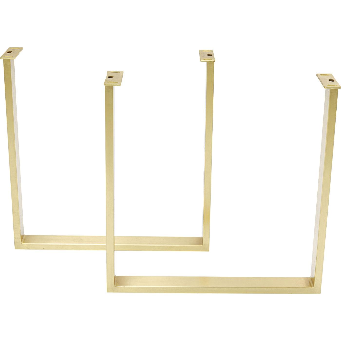 Table Jackie chêne laiton Kare Design Taille - 180x90cm