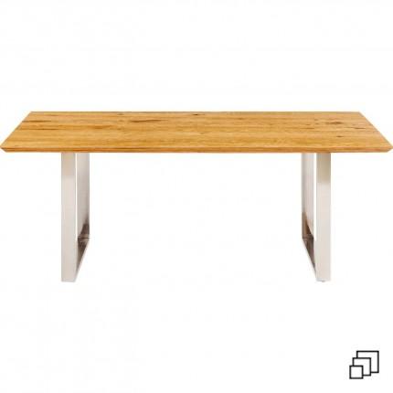 Table Symphony chêne chrome Kare Design