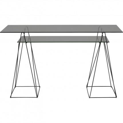 Bureau en verre Polar 135x65cm noir Kare Design