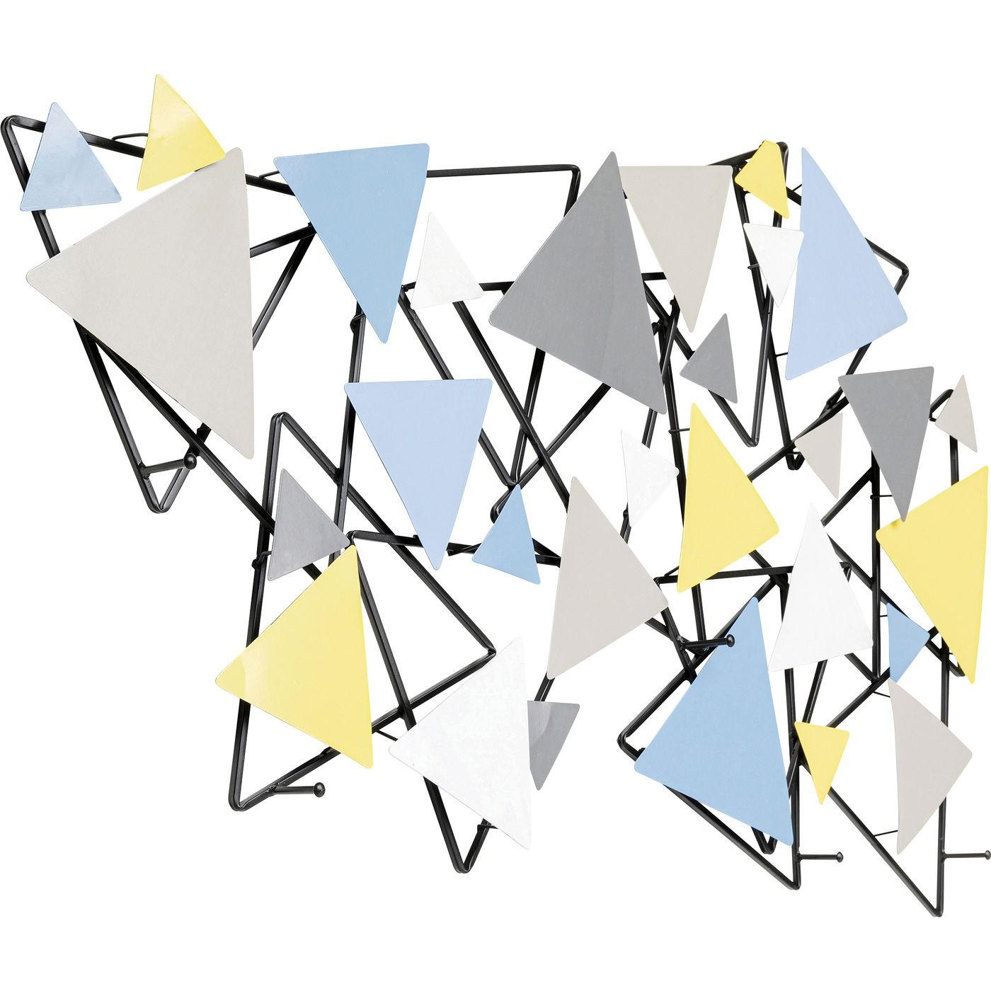 Portemanteau mural triangles 100cm Kare Design