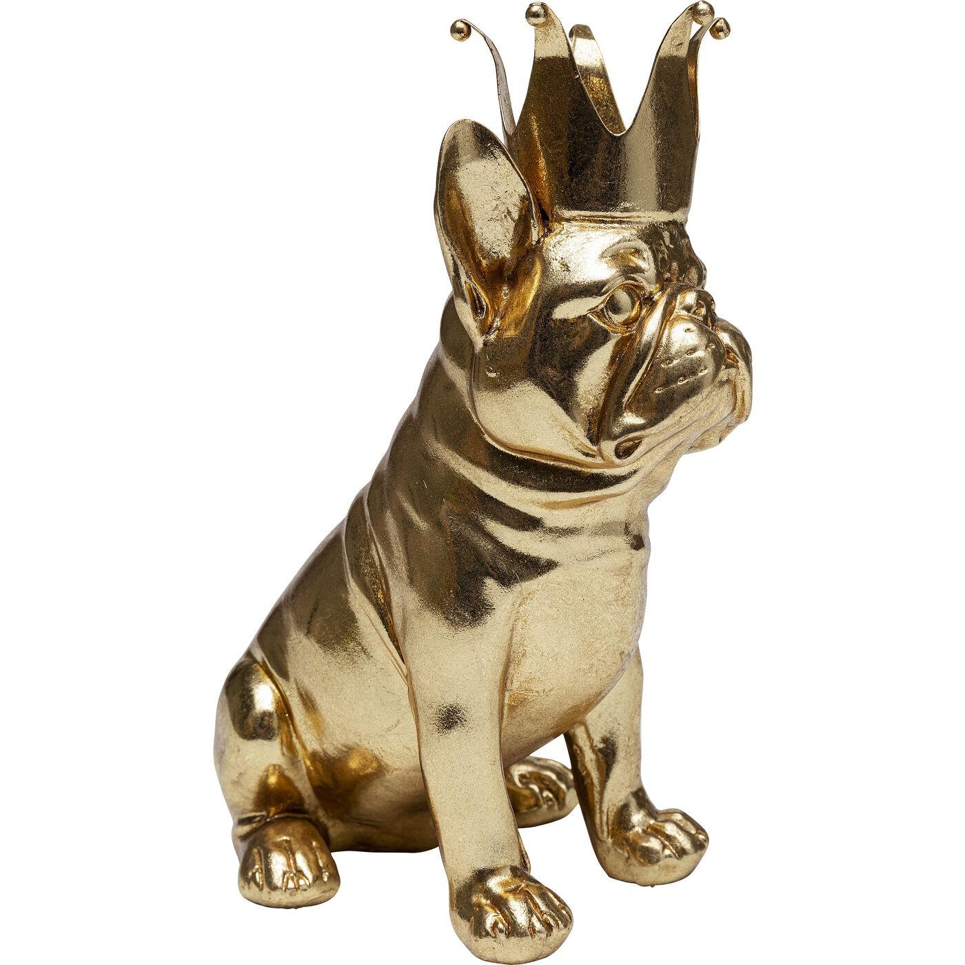Déco chien roi assis doré Kare Design