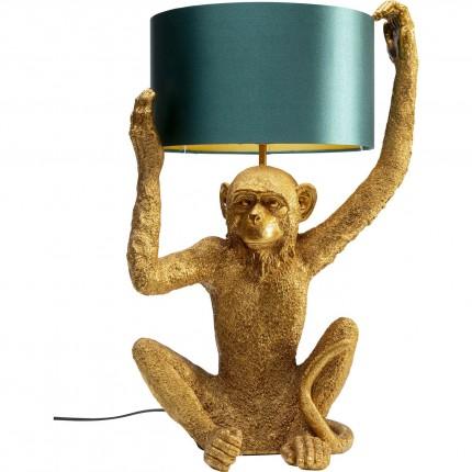 Lampe de table singe doré assis Kare Design