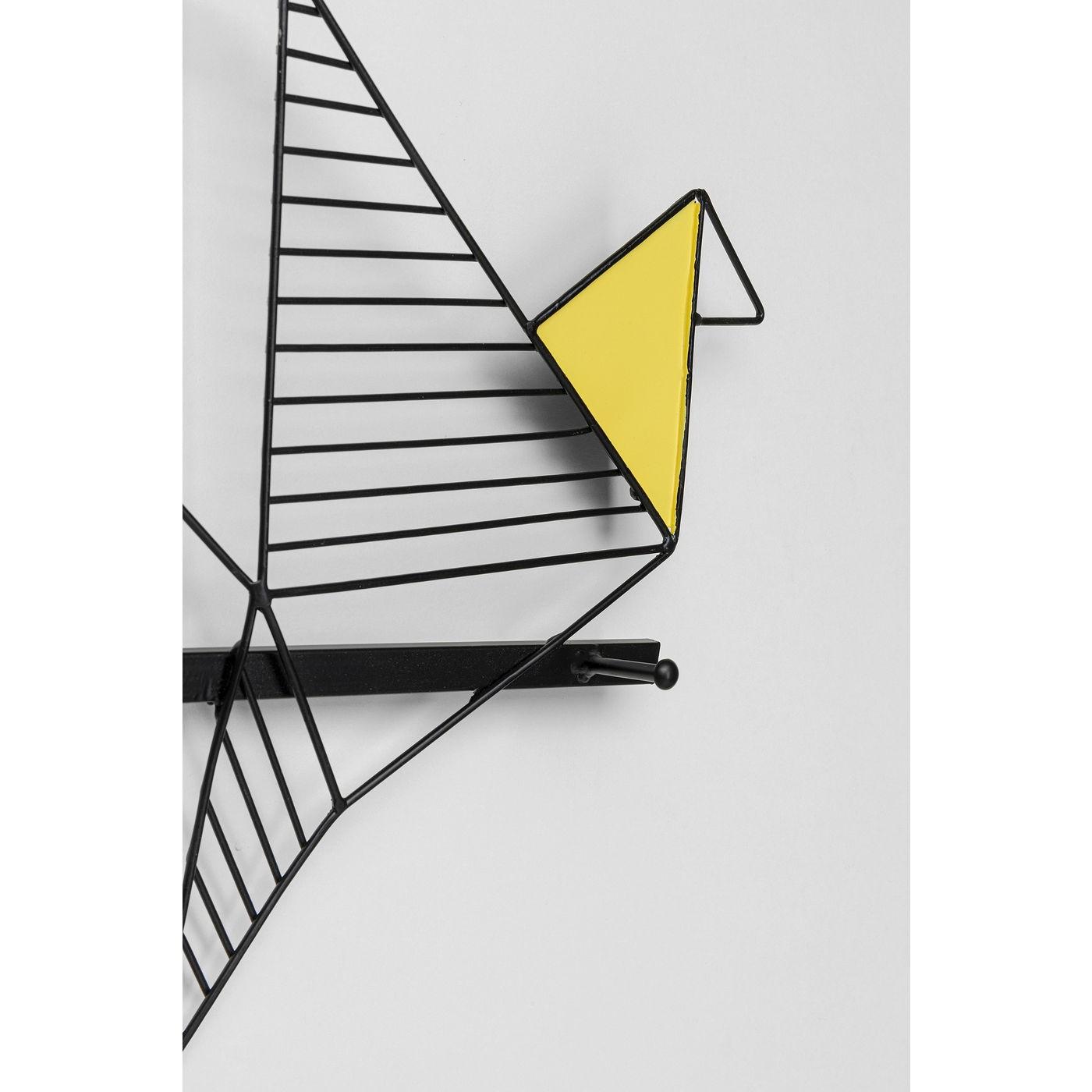 Portemanteau mural oiseaux origami 114cm Kare Design