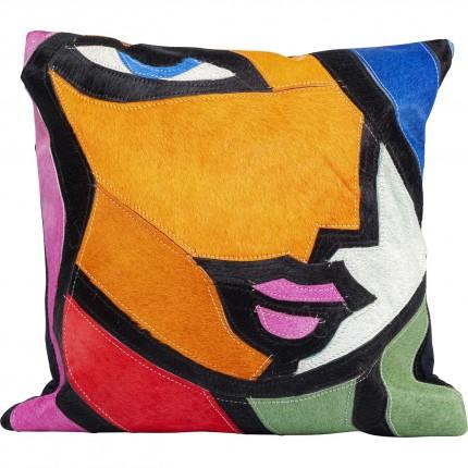 Coussin visage femme abstrait Kare Design