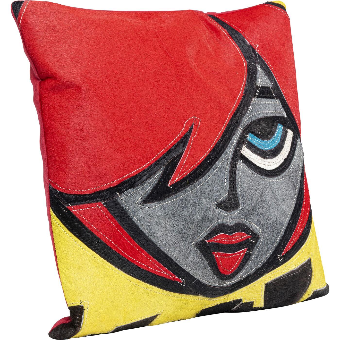 Coussin femme cheveux rouges courts Kare Design