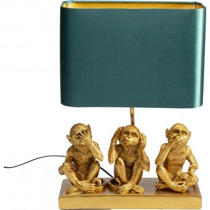 Lampe de table trois singes dorés Kare Design