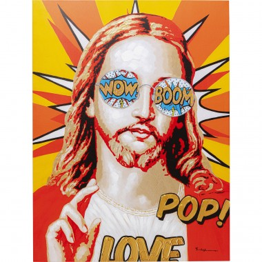 Tableau Touched Funky Jesus 90x120cm Kare Design