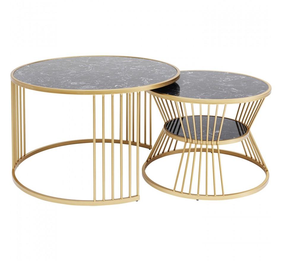 Tables basses Roma set de 2 Kare Design
