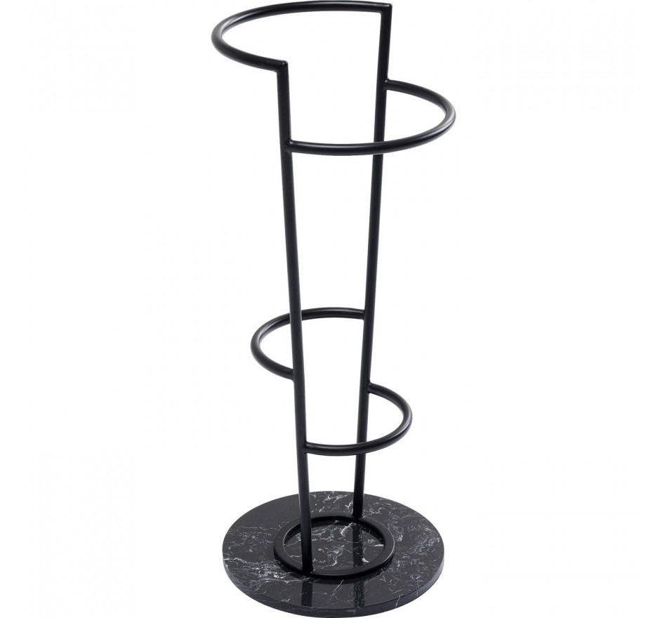Porte-parapluies marbre noir Kare Design