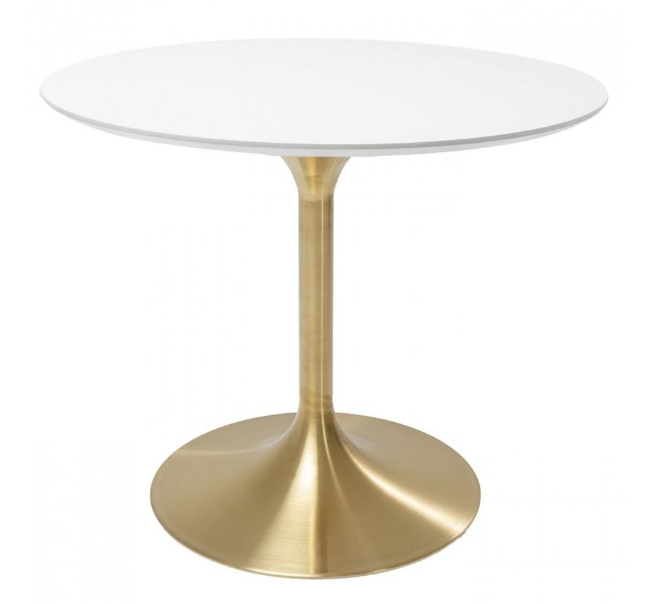 Table Invitation blanc & laiton Kare Design