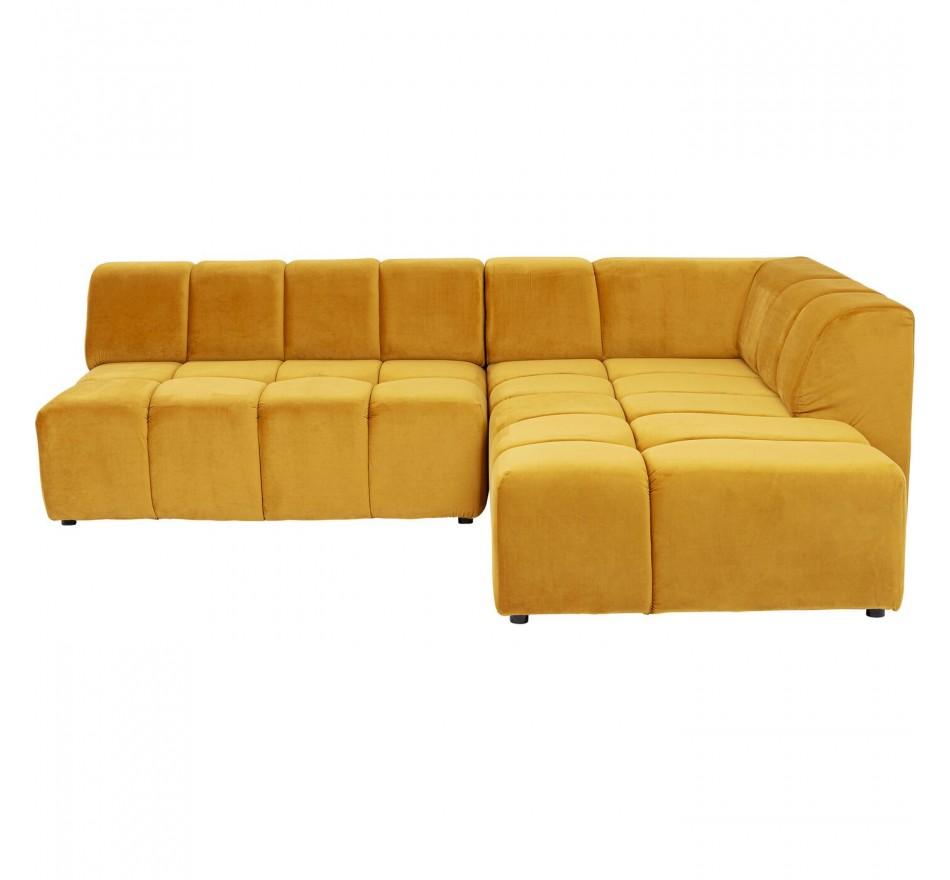 Canapé d'angle Belami droite ocre Kare Design