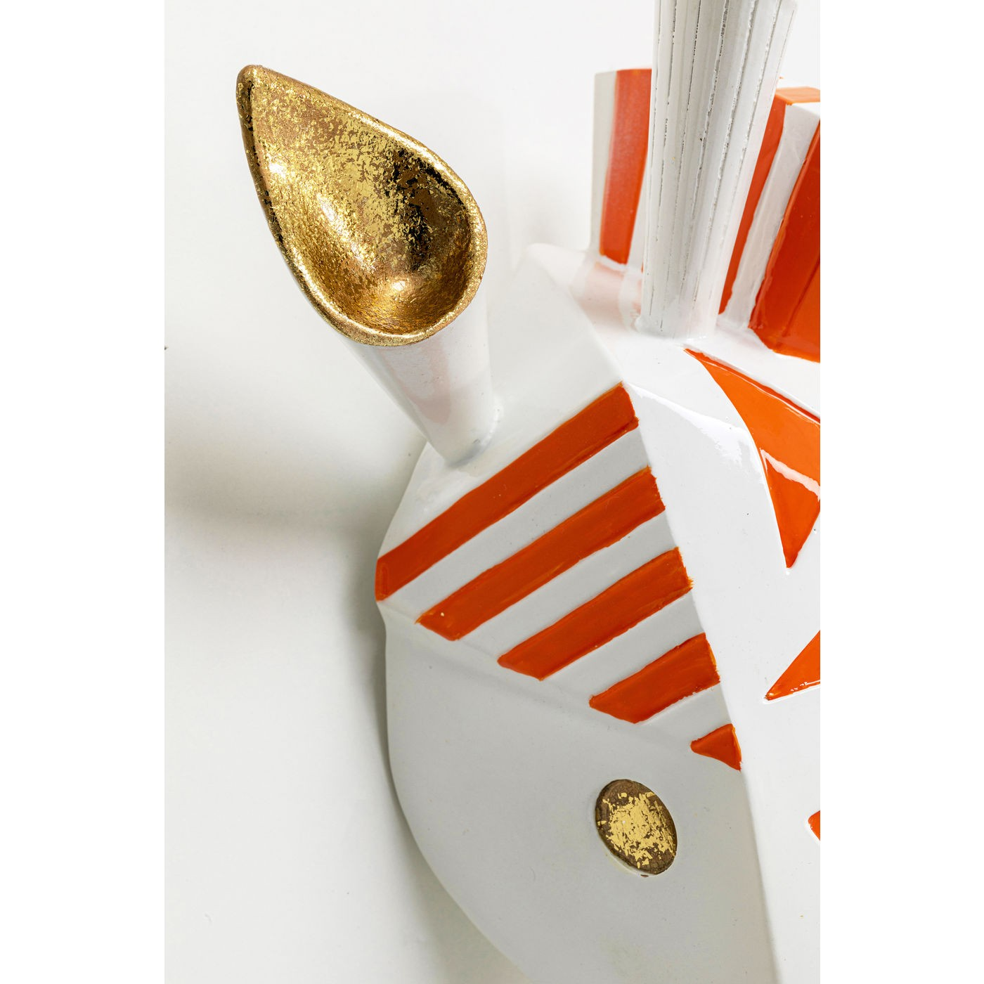 Déco murale girafe blanche et orange Kare Design