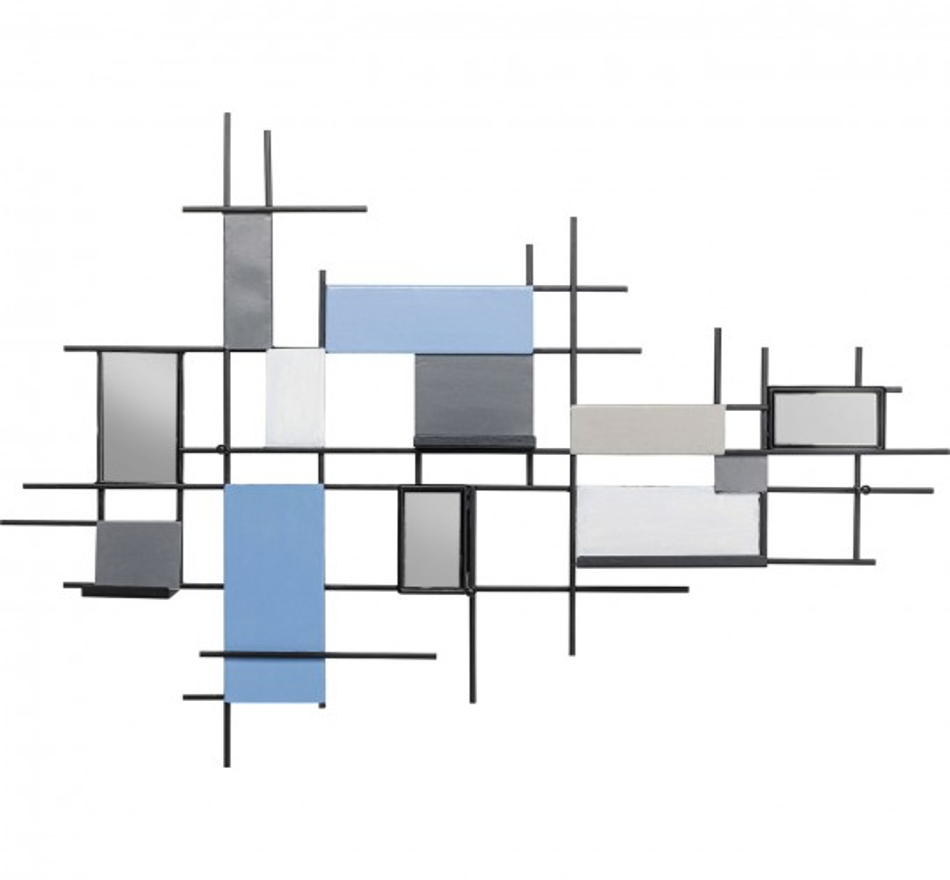 Portemanteau mural Wireframe Tetragon 80cm Kare Design