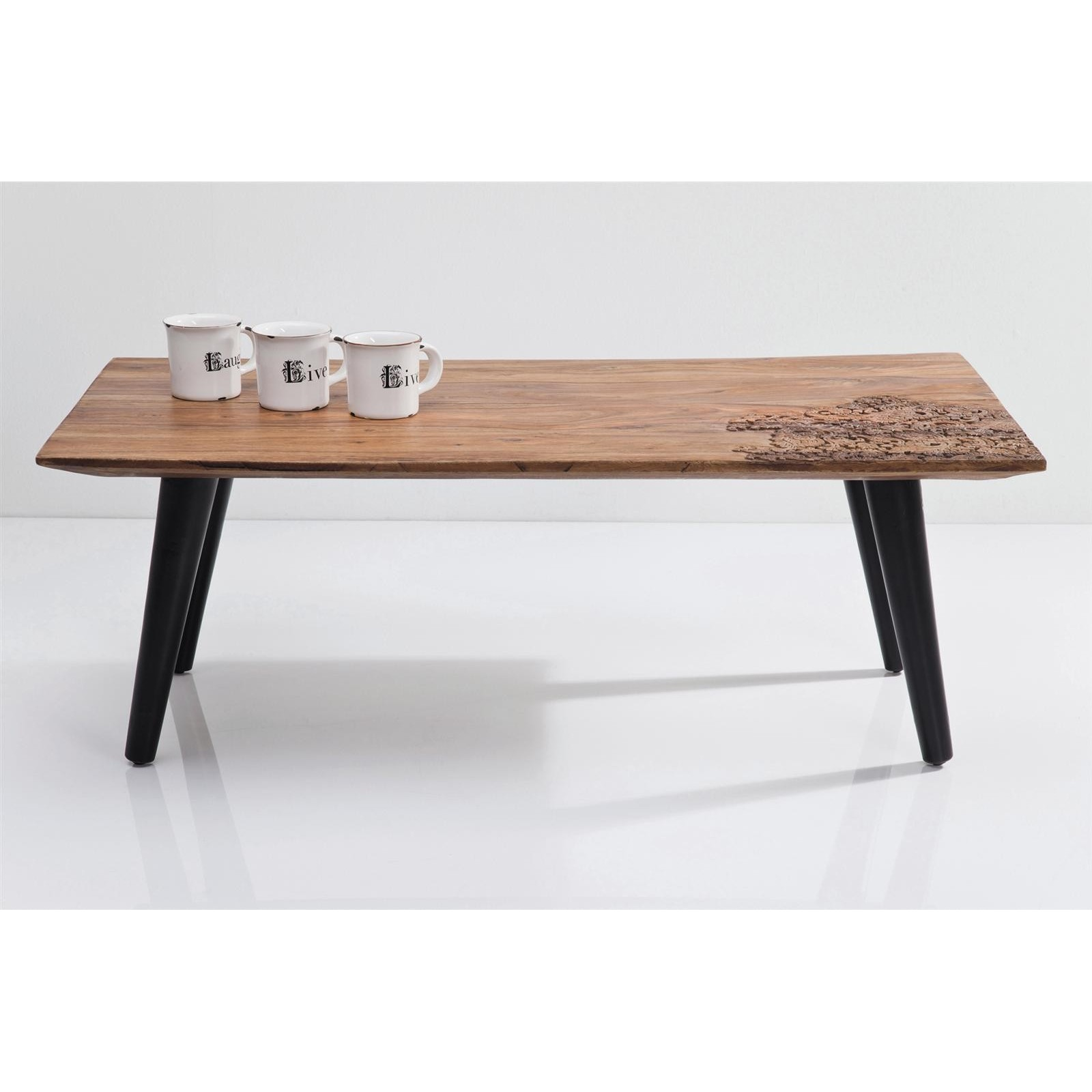 table basse ethnique en bois - rodeo - kare design