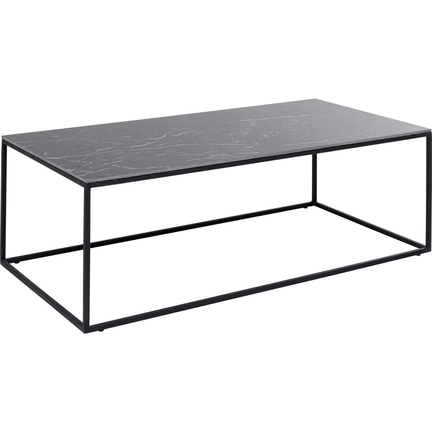 Table basse Greta 100x50cm noire Kare Design