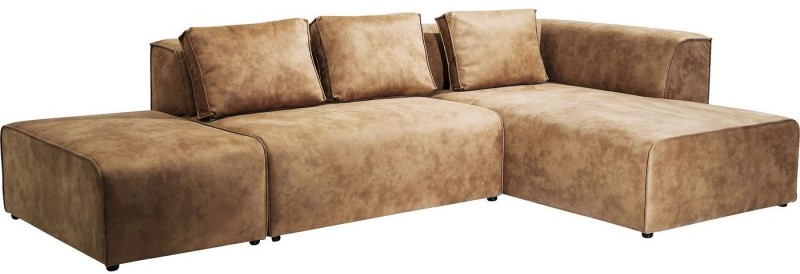 Canapé d'angle Infinity gauche cognac Kare Design