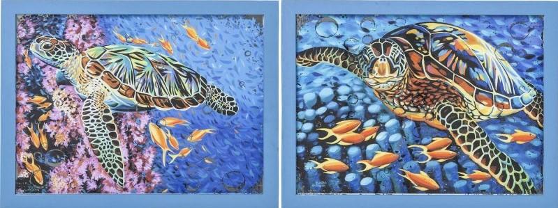 Décorations murales sea turtle 58x76cm Kare Design