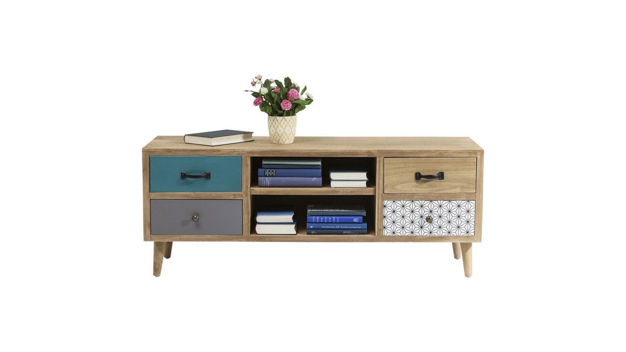 Capri collection de meubles en bois kare design kare for Meuble tv en l