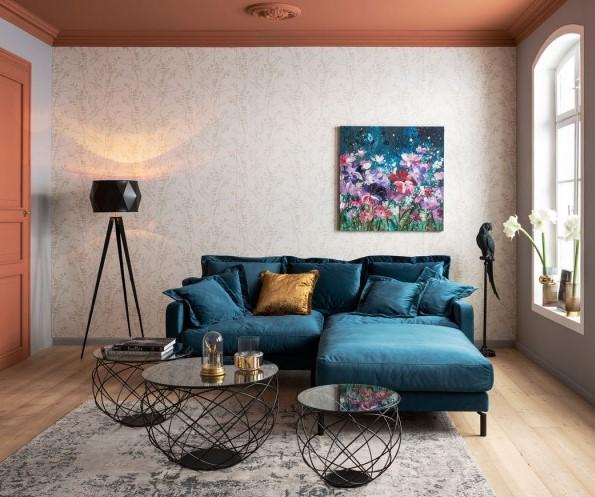 Canapé lullaby bleu pétrole Kare Design