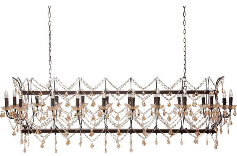 Suspension château cristal marron deluxe kare design
