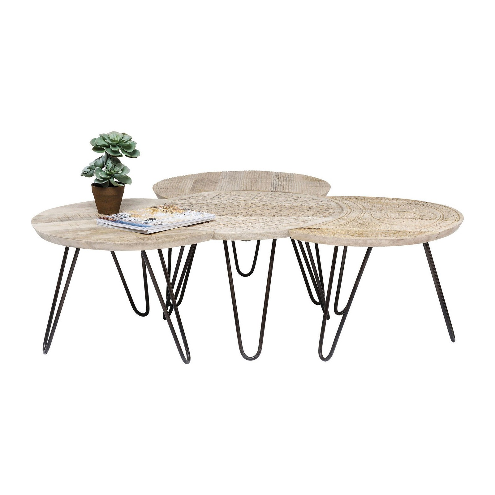 Table Ethnique Design Puro Kare Bois Basse CexdoB