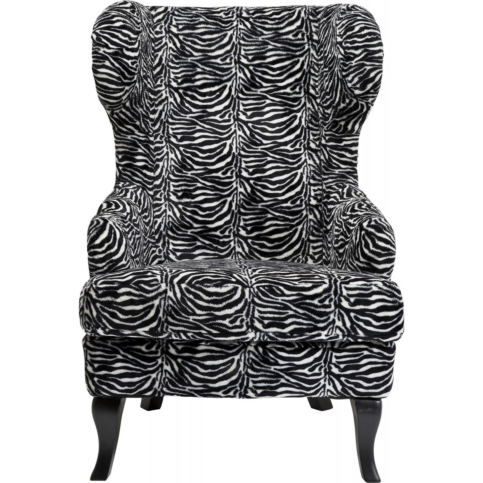 Fauteuil noir et blanc zébré, Kare Design