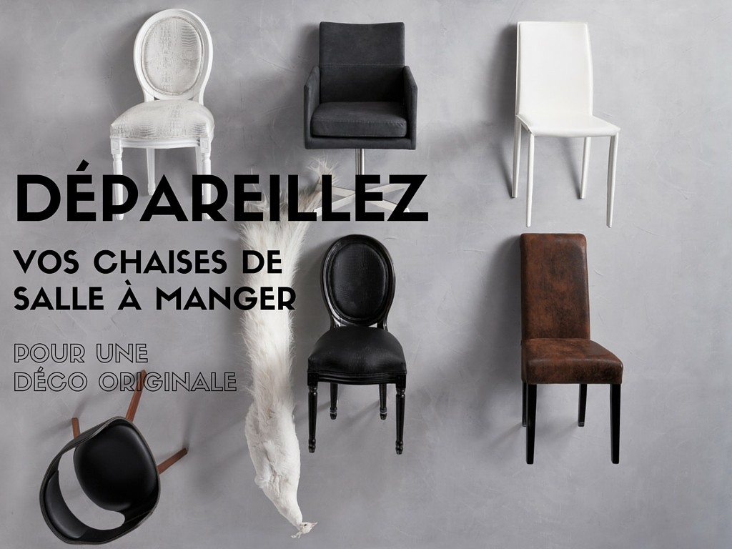 d pareillez vos chaises de salle manger pour une d co. Black Bedroom Furniture Sets. Home Design Ideas